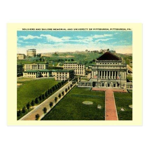 Universidad vintage de Pittsburgh, Pennsylvania Tarjetas Postales