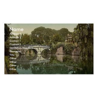 Universidad y puente, vinta de Clare de Cambridge, Tarjetas De Visita
