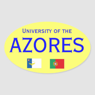 Universidade dos Acores* autocolante Oval Sticker