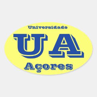 Universidade dos Açores* Oval Sticker