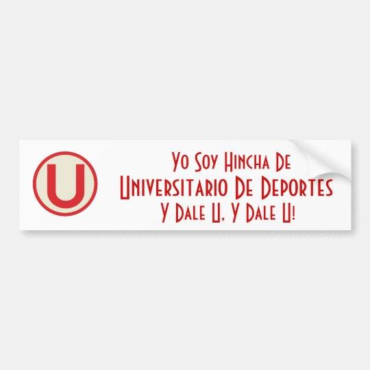 universitario, soja Hincha De, Universitario de Yo Pegatina Para Auto