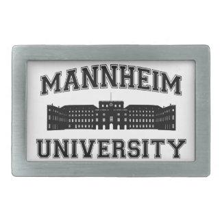 Universität Mannheim/universidad de Mannheim Hebillas De Cinturón Rectangulares
