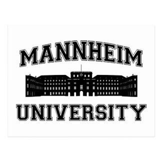 Universität Mannheim/universidad de Mannheim Tarjetas Postales