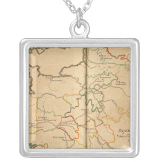 Universities in France Square Pendant Necklace