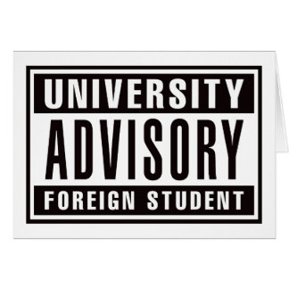 University Advisory Foreign Student Card