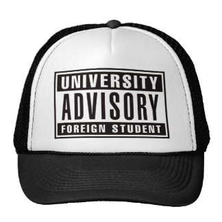 University Advisory Foreign Student Trucker Hat