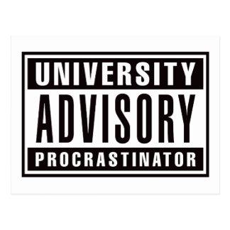 University Advisory Procrastinator Postcard