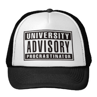 University Advisory Procrastinator Trucker Hat