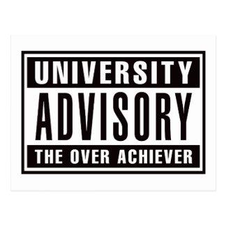 University Advisory The Over Achiever Postcard