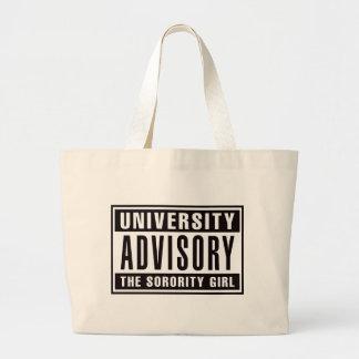 University Advisory The Sorority Girl Jumbo Tote Bag