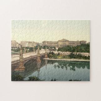University and Bridge Strasbourg Alsace France Jigsaw Puzzles