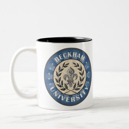 University Beckham Blue Mugs