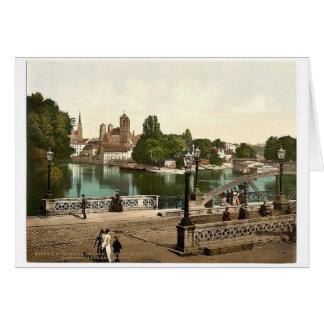 University Bridge with Cathedral Sandkirche and C Greeting Cards