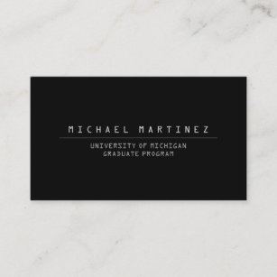 College student job business cards zazzle universitycollege student black business card colourmoves