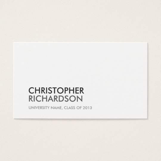 University college student white business card zazzle for Accounting student business card