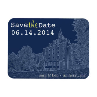 University Dorm Save the Date Rectangular Photo Magnet