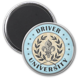 University Driver Light Blue 2 Inch Round Magnet