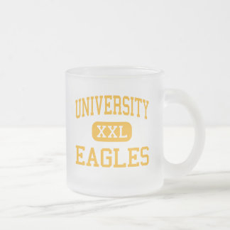 University - Eagles - High - Ferndale Michigan Frosted Glass Coffee Mug