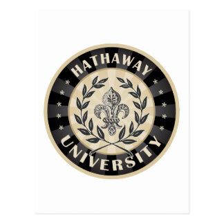 University Hathaway Black Postcard
