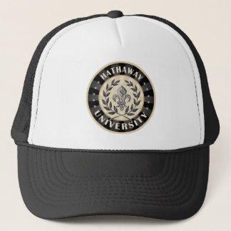 University Hathaway Black Trucker Hat