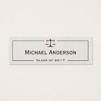 University Law School Student - Classic Linen Look Mini Business Card