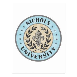 University Nichols Light Blue Postcard