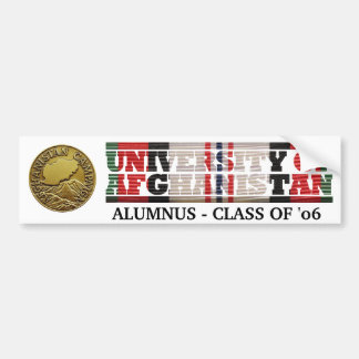 University of Afghanistan Alumnus Sticker