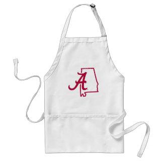 University of Alabama - Vintage State Logo Adult Apron