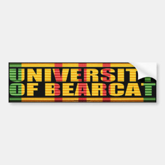 University of Bearcat Sticker Bumper Stickers