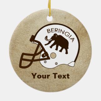 University of Beringia Football Ceramic Ornament