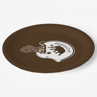 University of Beringia Football Helmet Paper Plate