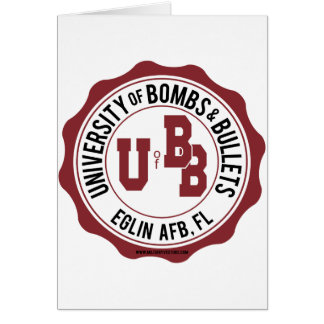 University of Bombs and Bullets Eglin Cards