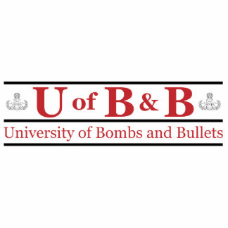 University of Bombs & Bullets Acrylic Cut Outs
