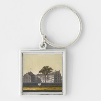 University of Cambridge, Massachusetts, from 'Le C Silver-Colored Square Keychain