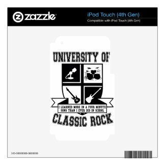 University of Classic Rock iPod Touch 4G Decal