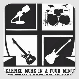 University of Classic Rock Square Sticker