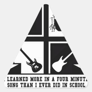 University of Classic Rock Triangle Sticker