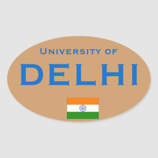 University of Delhi* (India) Euro-style Oval St Sticker