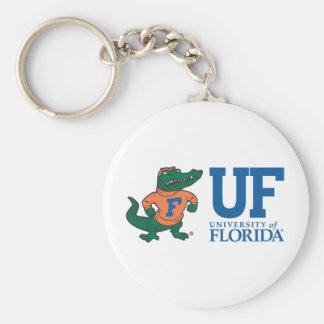 University of Florida Albert Basic Round Button Keychain