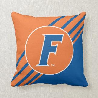 University of Florida F Throw Pillow