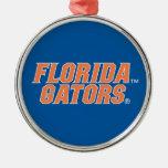 University of Florida Gators Round Metal Christmas Ornament