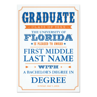 University of Florida Graduation Card