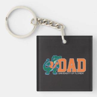 University of Forida Dad Single-Sided Square Acrylic Keychain