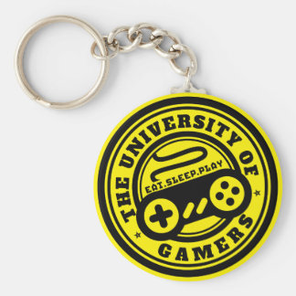 University of Gamers Logo Gaming Keychain