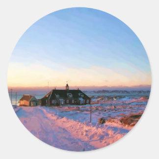 University of Greenland by Ozborne Whilliamsson Classic Round Sticker