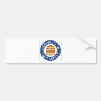 University of Hard Knocks Bumper Stickers