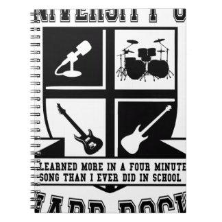 University of Hard Rock Notebook