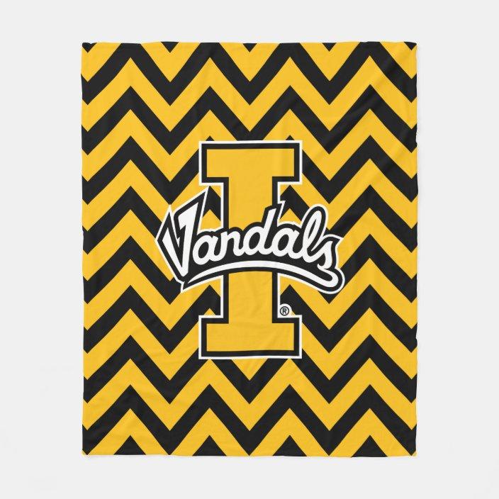 University Of Idaho Chevron Pattern Fleece Blanket Zazzle Com
