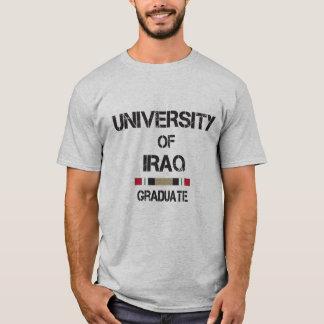 University of Iraq distressed 2 graduate skull T-Shirt
