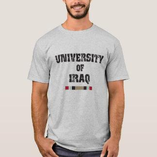 University of Iraq distressed 2 skull shirt